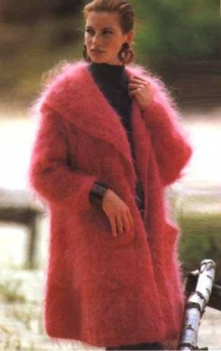 Жакет с широким шалевым воротником. пряжа (74% мохера, 17% овечьей...